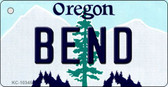 Bend Oregon State License Plate Key Chain KC-10345