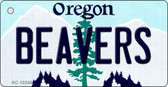 Beavers Oregon State License Plate Key Chain KC-10356