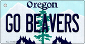 Go Beavers Oregon State License Plate Key Chain KC-10357