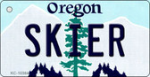 Skier Oregon State License Plate Key Chain KC-10364