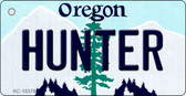 Hunter Oregon State License Plate Key Chain KC-10378