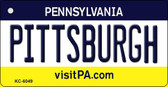 Pittsburgh Pennsylvania State License Plate Key Chain KC-6049