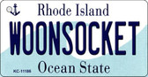 Woonsocket Rhode Island License Plate Novelty Key Chain KC-11186