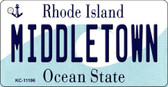 Middletown Rhode Island License Plate Novelty Key Chain KC-11196
