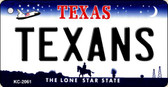 Texans Texas State License Plate Key Chain KC-2061