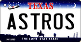 Astros Texas State License Plate Key Chain KC-2083