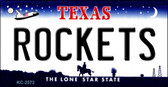 Rockets Texas State License Plate Key Chain KC-2572