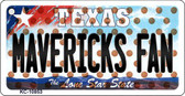 Mavericks Fan Texas State License Plate Key Chain KC-10853