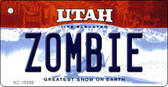 Zombie Utah State License Plate Key Chain KC-10209