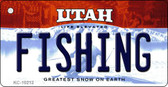Fishing Utah State License Plate Key Chain KC-10212