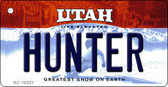 Hunter Utah State License Plate Key Chain KC-10221