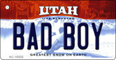 Bad Boy Utah State License Plate Key Chain KC-10222