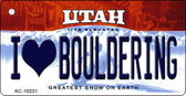 I Love Bouldering Utah State License Plate Key Chain KC-10231