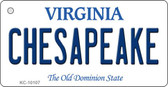 Chesapeake Virginia State License Plate Novelty Key Chain KC-10107