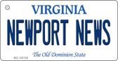 Newport News Virginia State License Plate Key Chain KC-10110