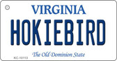 Hokiebird Virginia State License Plate Key Chain KC-10113