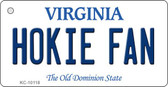 Hokie Fan Virginia State License Plate Key Chain KC-10118