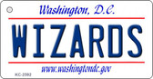 Wizards Washington DC State License Plate Key Chain KC-2592