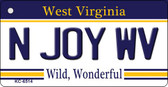 N Joy WV West Virginia License Plate Key Chain KC-6514