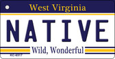 Native West Virginia License Plate Key Chain KC-6517
