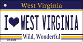 I Love West Virginia License Plate Key Chain KC-6520