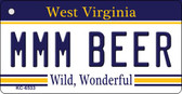 MMM Beer West Virginia License Plate Key Chain KC-6533