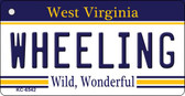 Wheeling West Virginia License Plate Key Chain KC-6542