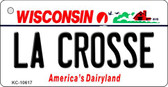 La Crosse Wisconsin License Plate Novelty Key Chain KC-10617