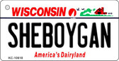 Sheboygan Wisconsin License Plate Novelty Key Chain KC-10618