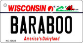 Baraboo Wisconsin License Plate Novelty Key Chain KC-10623
