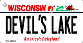 Devils Lake Wisconsin License Plate Novelty Key Chain KC-10625