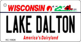 Lake Dalton Wisconsin License Plate Novelty Key Chain KC-10626