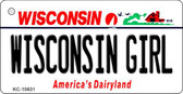 Wisconsin Girl License Plate Novelty Key Chain KC-10631