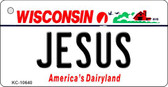 Jesus Wisconsin License Plate Novelty Key Chain KC-10640