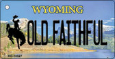 Old Faithful Wyoming State License Plate Key Chain KC-10527