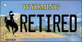 Retired Wyoming State License Plate Key Chain KC-10543