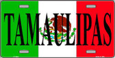 Tamaulipas Mexico Background Metal Novelty License Plate LP-3444