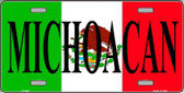 Michoacan Mexico Metal Novelty License Plate LP-3447
