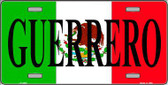 Guerrero Mexico Metal Novelty License Plate LP-3452