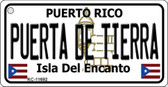 Puerta De Tierra Puerto Rico Flag Novelty Key Chain KC-11692