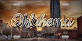 Oklahoma Sunset Skyline State License Plate LP-11624