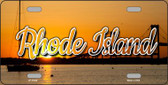 Rhode Island River Sunset State License Plate LP-11628