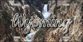 Wyoming Rocky Waterfall State License Plate LP-11641