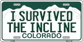 I Survived The Incline Colorado Background Novelty License Plate LP-11656