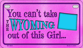 Wyoming Girl Motorcycle License Plate MP-9841