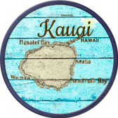 Kauai Hawaii Map Novelty Metal Circular Sign C-821