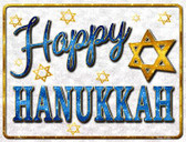 Happy Hanukkah Parking Sign Metal Novelty P-1743