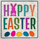 Happy Easter with Eggs Novelty Square Sign SQ-323