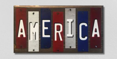 America Fun Strips Novelty Wood Sign WS-020