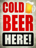 Cold Beer Here Novelty Parking Sign P-1762